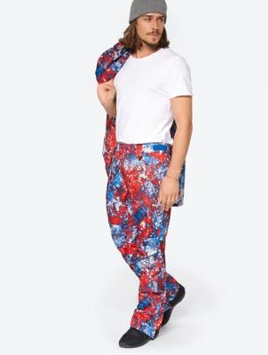 Weatherproof Ski Pants in Multicoloured Pattern