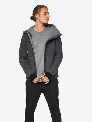 Windproof Sweat Jacket in a Melange Design
