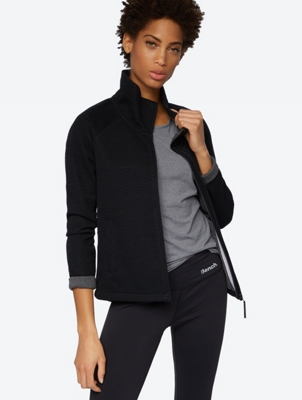 Windproof Sweat Jacket with Standing Collar