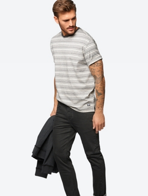 Loose Fit T-Shirt with Stripes