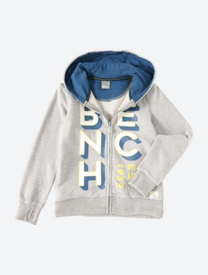 Zip Through Hoodie with Front Graphic