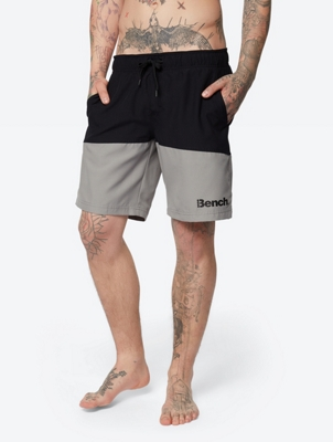 Two-Tone Swim Shorts with Drawstring Waist